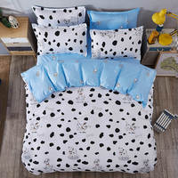 cartoon spotty dog print bedding sets coverlets comforter single twin full queen king size Children's babys kids bed black white