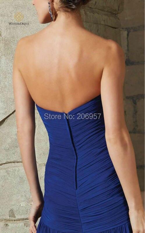 New Arrival Elegant Royal Blue Long Evening Dress Pleated Chiffon ... 7ca1b4f96e30