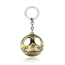 Drop Shipping The Nightmare Before Christmas Jack Skull Mask Keychain font b Anime b font Hallowmas