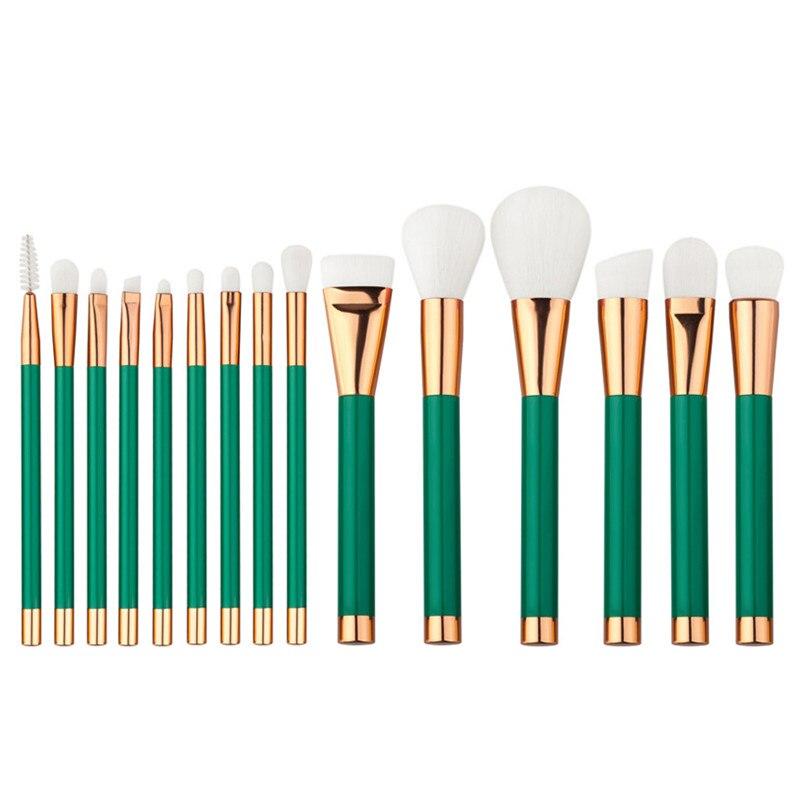 15pcs/Set Pro Women Cosmetic Brushes Set Powder Eyeshadow Foundation Face Blushes New Makeup Beauty Kits Tools 131-1065