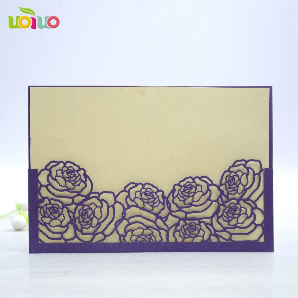 free shipping 50set inc142 purple pocket Laser Cut Luxury Flora ...