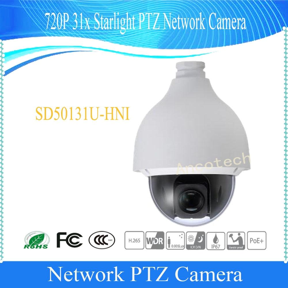 DAHUA Security IP Camera CCTV 720P 31x Starlight PTZ Network Camera IP67 IK10 Without Logo SD50131U-HNI dahua security ip camera outdoor camera 2mp full hd 30x wdr starlight network ptz dome camera ip67 without logo sd65f230f hni