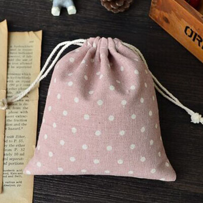 Pink Dot Linen Jewelry Bag 8x10cm 9x12cm 10x15cm 13x17cm Pack Of 100 Party Candy Sack Jute Gift Pouch 2019 Official