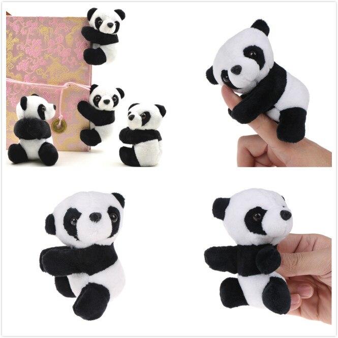 1 Pcs Creative Plush Panda Clip Small Stuffed Animal Toy Curtain Clip Bookmark Notes Souvenir Toys For Children