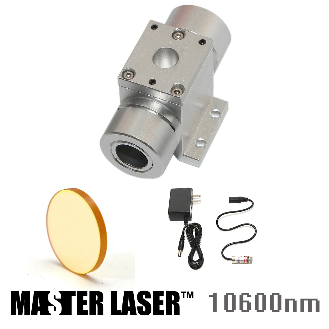 10.6um CO2 1064nm Fiber Laser Beam Combiner Set Beam Combiner Mount Beam Combiner Mirror Lens 20mm Laser Engraving Cuttinng