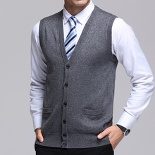 2019 New Fashion Brand Sweater Man Cardigan Vest Slim Fit Jumpers Knitwear Solid Color Autumn Korean Style Casual Mens Clothes