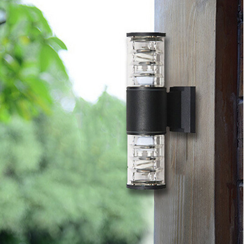 10W up down outdoor led wall light Cylinder porch lamp exterior ...