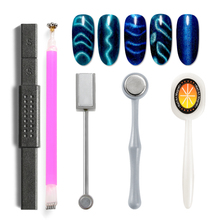 RBAN NAILDouble-edged Strong Magnetic Nail Stick 3D Cat Eye Effect Magnet for UV Painting Gel Nail Polish UV Lamp for Gel Varnis