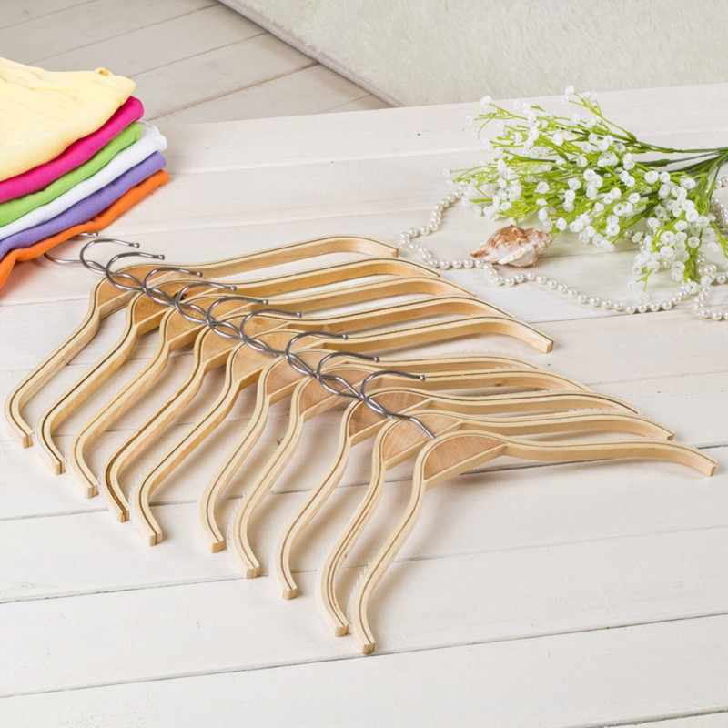 Percha antideslizante para niños adultos, percha antideslizante, percha de madera brillante, barniz de Color, suministros para el hogar de 32 cm/ 38 cm/42 cm