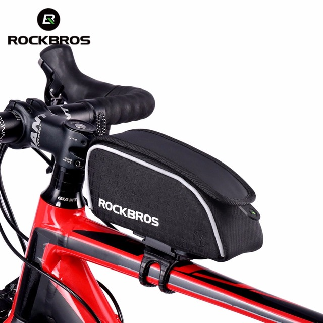 rockbros bike frame bags cycling accessories mountain bike bicycle bag tube front frame bags - Mountain Bike Frame Bag