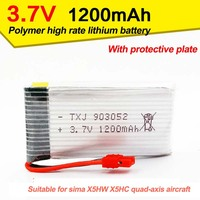 3 7V1200mAh Power Model Lithium Battery Is Suitable For Sima X5HC X5HW Aircraft Battery Customization