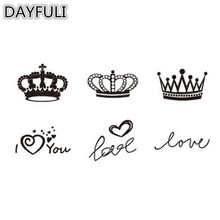 hot deal buy 1pc safe fashion non-toxic  model glitter sticker waterproof temporary tattoo body art painting gift love crown tattoo stickers