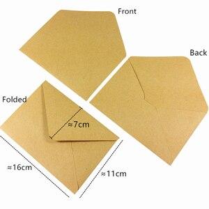 Image 4 - 100 pçs/lote novo vintage diy multifuncional papel kraft envelope 16*11cm presente cartão envelopes para festa de aniversário casamento