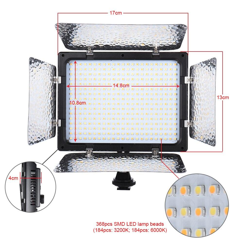 Andoer W368 II double couleur température LED lumière vidéo 3200 K 6000 K luminosité réglable photographie lumière 368 LED panneau lumineux-in Éclairage photographique from Electronique    3