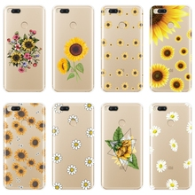 Yellow Sunflower Flower Back Cover For Xiaomi Mi A1 A2 8 SE