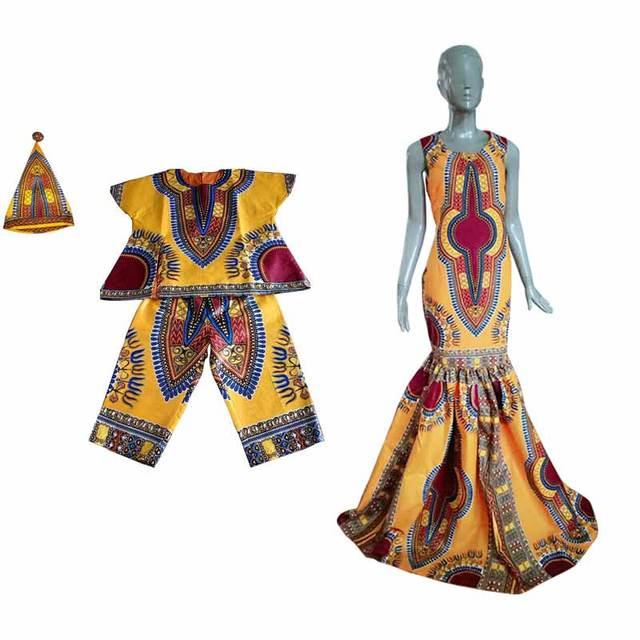 2017 otoño nueva moda familia ropa matching marca ropa de la familia establece familia madre e hijo bebé ropa africana brwyq16