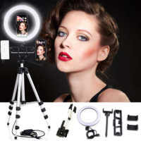 "10 ""Selfie Ring Licht mit Stativ für YouTube Make-Up Desktop Ringlight LED Kamera Lampe 3 Licht Modi & 10 helligkeit Ebene"