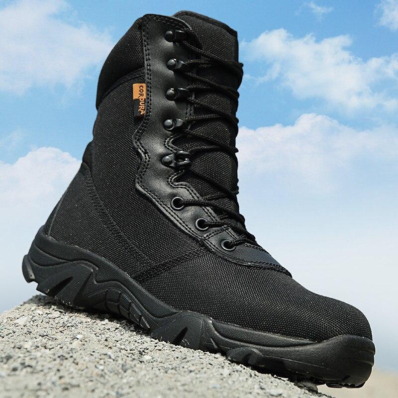 Randonnée en plein air Camping chasse Nylon respirant armée chaussures hautes hommes Jungle désert CP Camouflage militaire tactique bottes