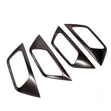ABS / Steel Accessories Interior Door Handle Bowl Frame for Peugeot 3008 3008 GT Allure 2016 2017 2018 / 5008 5008 GT 2017-2018 все цены