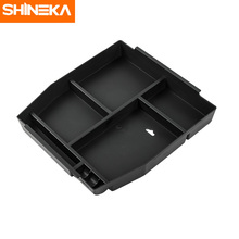 SHINEKA Car Styling High Quality Central Console Armrest Storage Box  Organizer Sticker for Ford F150 2015+ Accessories