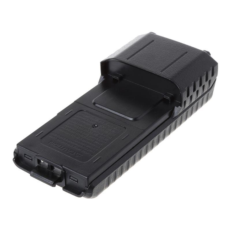 Frete grátis baofeng BF-UV5R walkie talkie alto-falante estendido 6x aa bateria caso pacote concha
