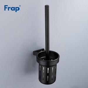 Image 2 - Frap accesorios de baño para montar en la pared, escobilla de baño de aluminio, espacio negro, accesorios de baño para limpiar, Y18053