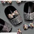 Beautome 2016 3D Diseño Del Bowknot de la Aleación AB Piedras para Uñas de Gel UV Polaco Del Clavo de DIY Accesorios Encantos de La Joyería del Diamante 5 Unids/lote