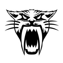 1pcs 15.2*13.1cm Saber-toothed Tiger Car Sticker Motorcycle Accessories Vinyl full Body Window Car Decals and Sticker(China)