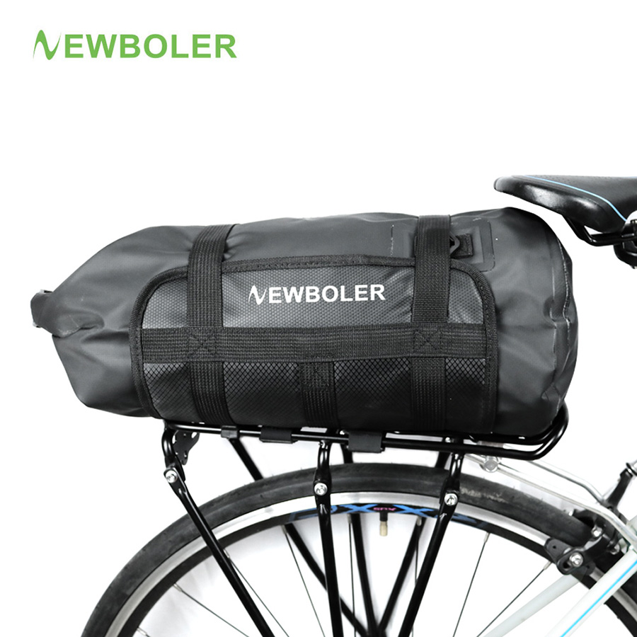 Bicycle Bike Rack Back Rear Seat Storage Bag with Taillights Waterproof Pannier