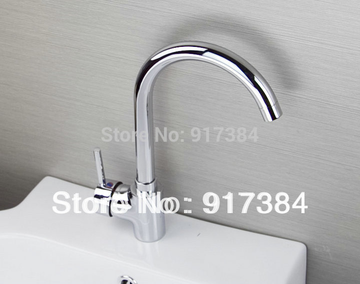 360 Swivel Single Handle Deck Mount Spray Newly Great Kitchen basin sink mixer tap Chrome brass