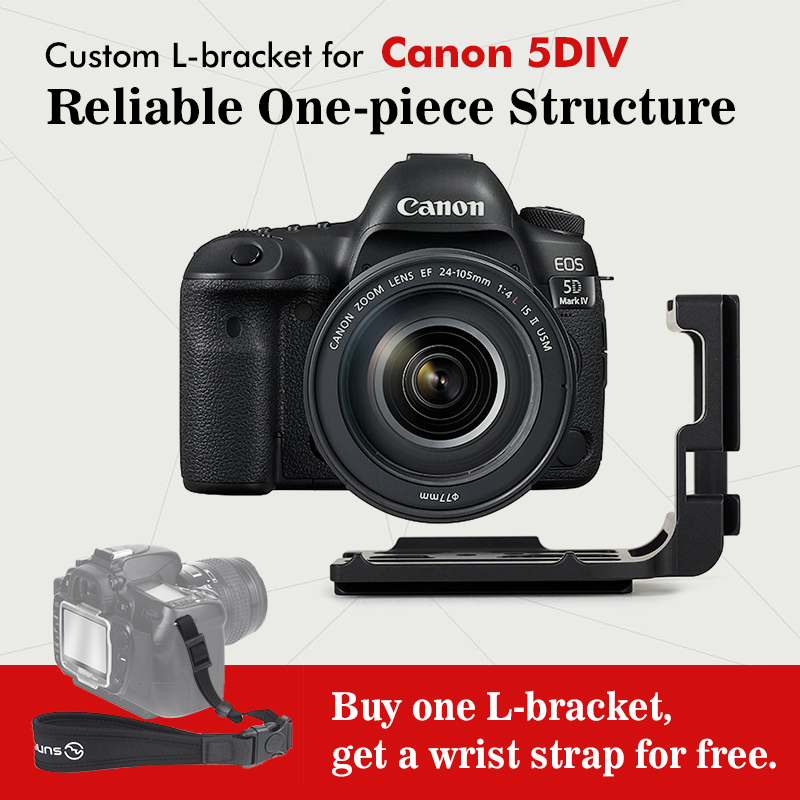 SUNWAYFOTO PCL-5DIV Custom L Plate Bracket for Canon  5DIV 5D4 5D Mark IV Camera  Arca, Really Right Stuff, Benro compatible лопата truper pcl pe 31174