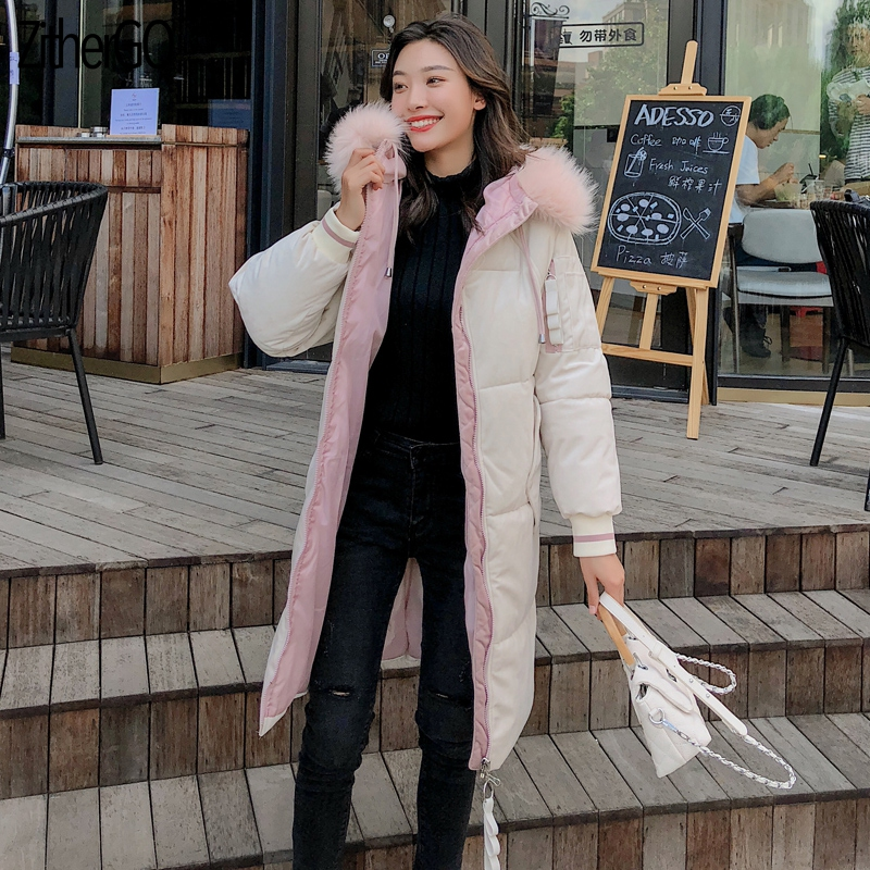 ZitherGo Hooded Parka Vrouwelijke jas Jas Plus Size Winterjas Vrouwen Casual Beneden Katoen Uitloper Dames Outfit - 4