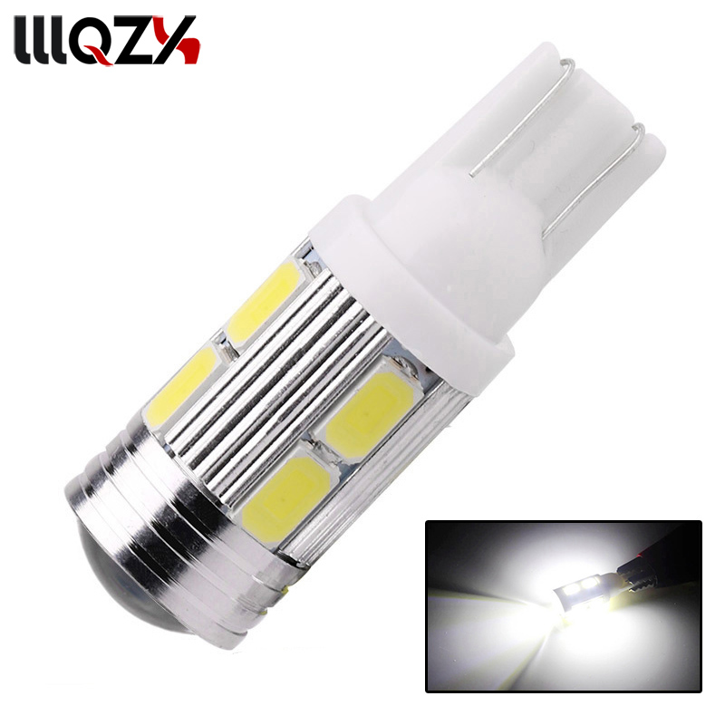 1x T10 194 192 921 Super Bright 10 SMD 5630 5730 LED Auto Parking Light W5W WY5W 501 Car Reading Lamp Wedge Tail Side Bulb DC12V super bright white t10 w5w 50w 10 smd drl led bulb car auto wedge reverse signal light lamp 194 168 hot selling
