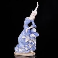 Ev ve Bahçe'ten Heykelcikler ve Minyatürler'de Porselen Tutkulu Bayan Flamingo Latin Dansçı Heykel Seramik Flamenko Dans Figürü Dekor Hediye Zanaat Süs Aksesuarları