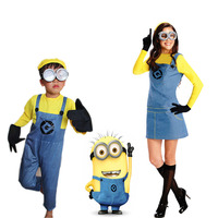 Sensfun Minion Suit Halloween Anime Despicable Me Cosplay Costumes Suits Boys/Girls Kids/adult Party Clothes Holloween Costume