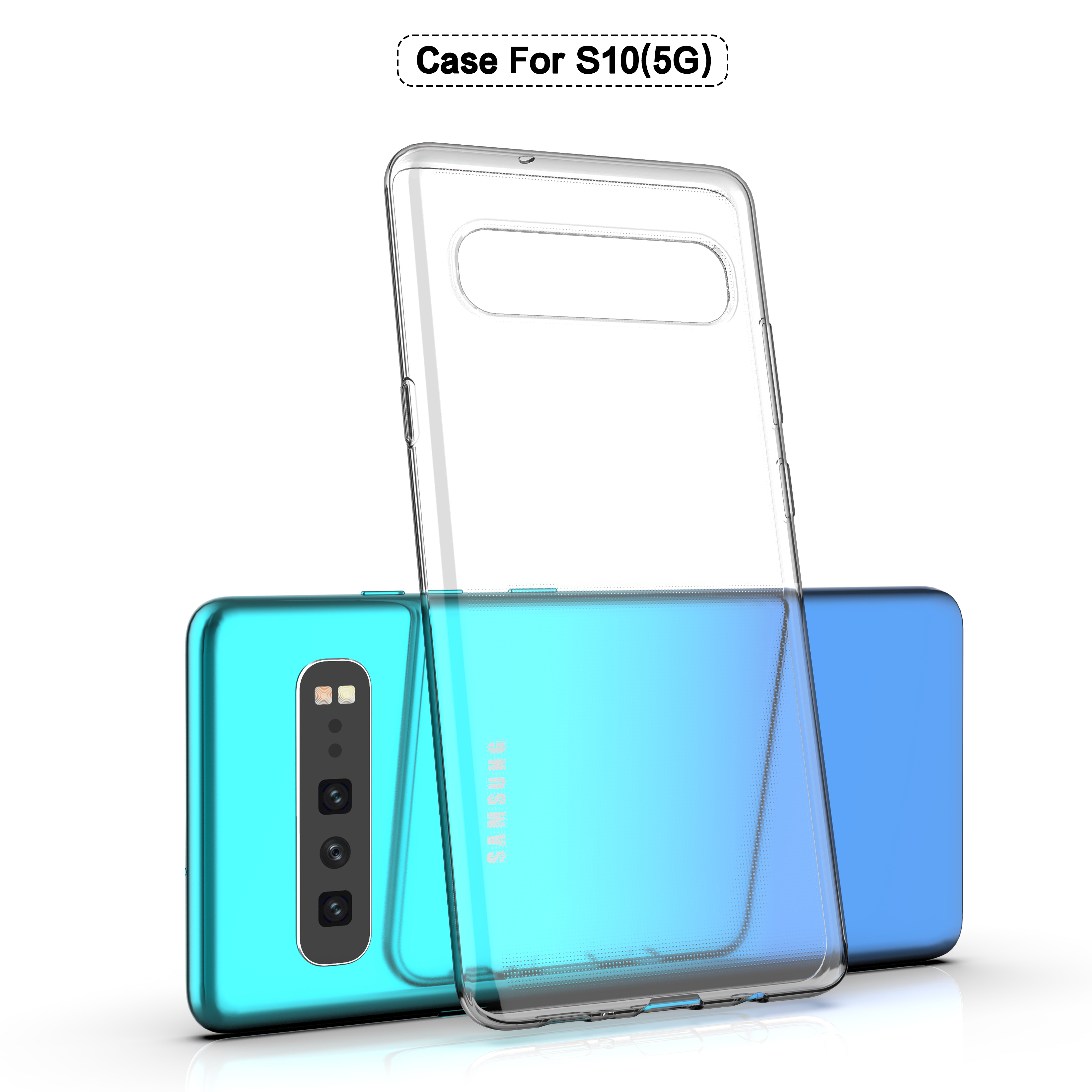Samsung Galaxy S10 5G Phone Case Half-wrapped TPU Ultra-thin Soft Silicone Transparent Squishy Back Case Samsung Galaxy S10(5G)