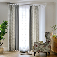 Patchwork Embroidered Blackout Curtains for Living Room Jacquard Window Curtains for Bedroom Modern Curtains Custom Made