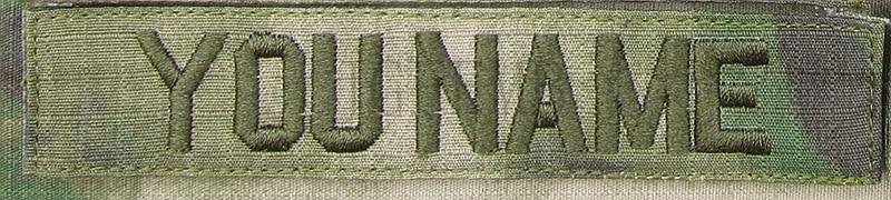 Grünen buchstaben A-TACS FG Benutzerdefinierte Name bänder Brust Bänder Dienstleistungen Bänder moral taktische militärische Stickerei patch Abzeichen
