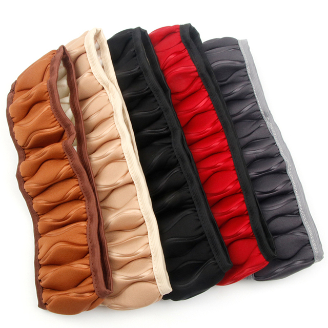 Car Steering Wheel Cover Braid On The Wheel Covers Handle Plush Set Sponge Auto Protector Universal Auto In Interior Accessories