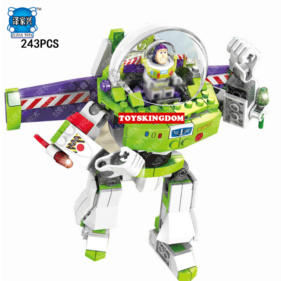 243pcs Toy Story Buzz Lightyear Mecha Building Blocks Bricks Educational Kids Toys Children Gift single sale toy iv story figure buzz lightyear woody aliens jessie building blocks set models toys sy172 jr1712