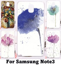 Back Cover PC Skin Luxury Phone Cover For Samsung Galaxy Note III 3 Note3 Case Beautiful Flowers Hard Plastic and Soft Shell