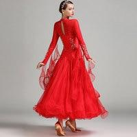 Ballroom dance competition dresses stand collar standard dance dresses waltz dance dress Professional Foxtrot skirt