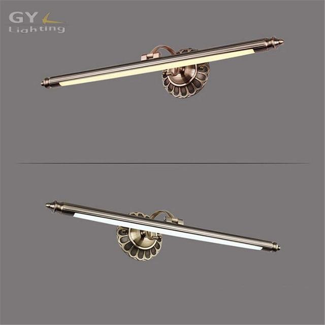 L50 70 90cm Bathroom Mirror Lamp Waterproof Retro Bronze Cabinet Vanity Lights Led