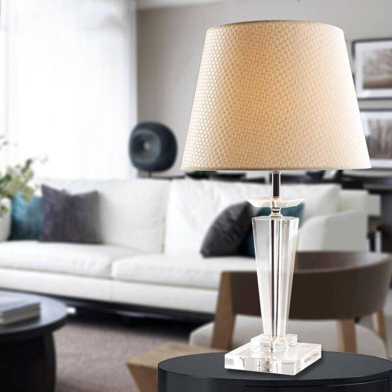 Настольная лампа Кристалл бюро свет украшения работает 220 В исследование Роскошные Европа прикроватная фойе