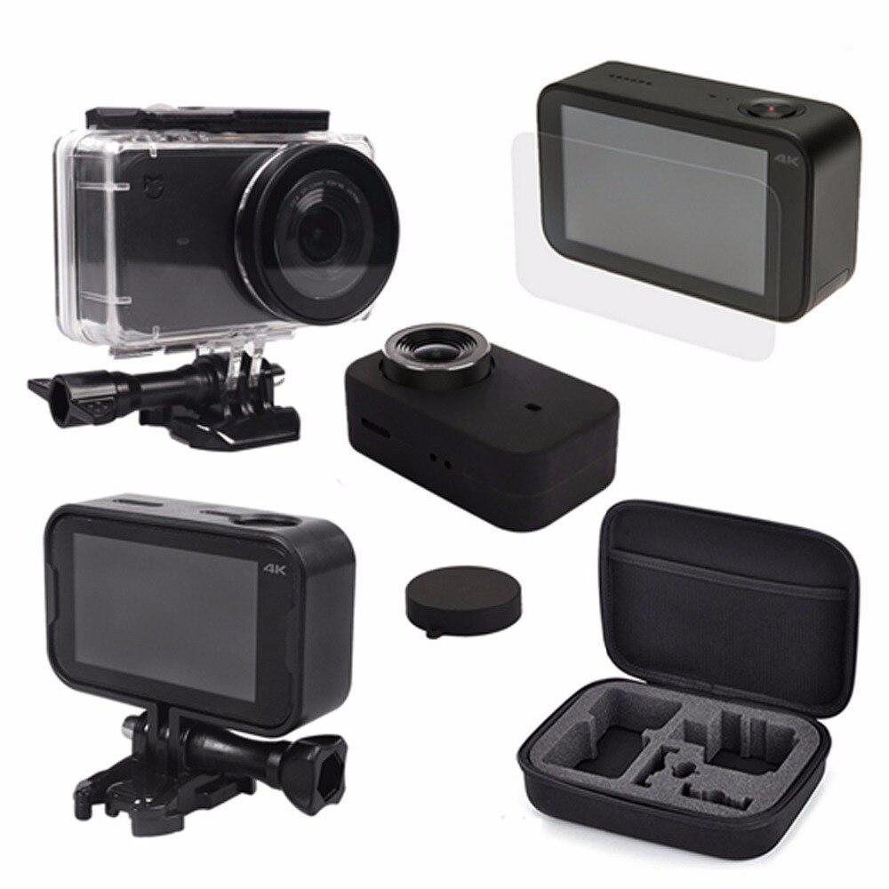 цена на Xiomi Mijia 4K Camera Kit Waterproof Housing Case +Storage bag+Frame Shell +Skin Case Cover +Mijia Lens Cap Protector Film xiomi