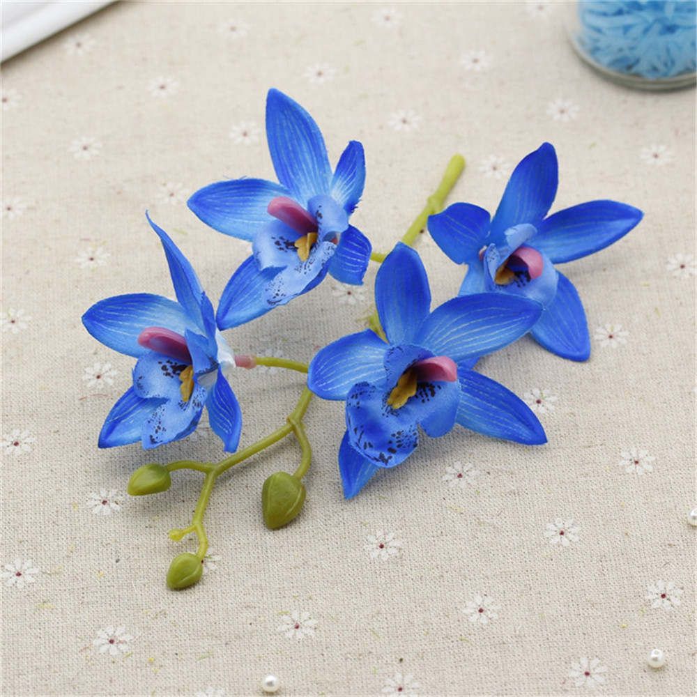 2pc artificial butterfly orchid flowers silk flowers wedding 2pc artificial butterfly orchid flowers silk flowers wedding decoration fake flowers lace wedding decoration flowers supply in artificial dried flowers izmirmasajfo