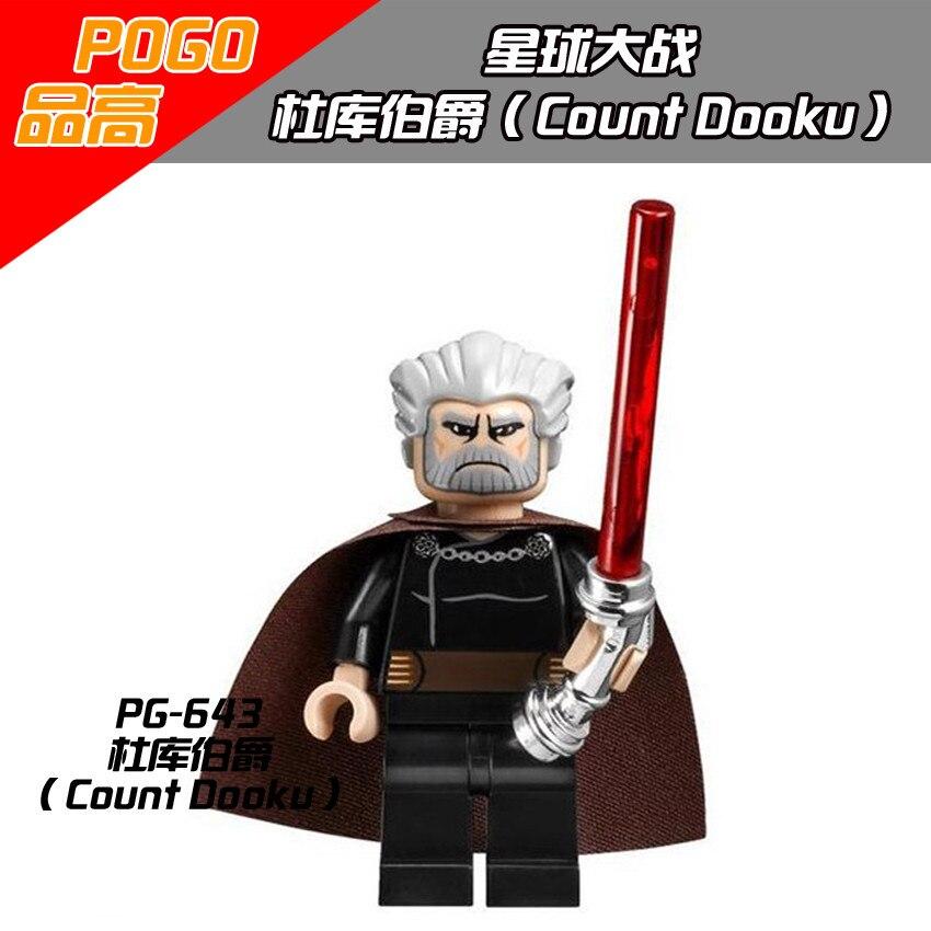 Saymak Dooku Tek Satış PG643 Star Wars Kavisli Lightsaber Sith Starwars Minifigures Yapı Taşı Iyi Çocuk Hediye Oyuncak