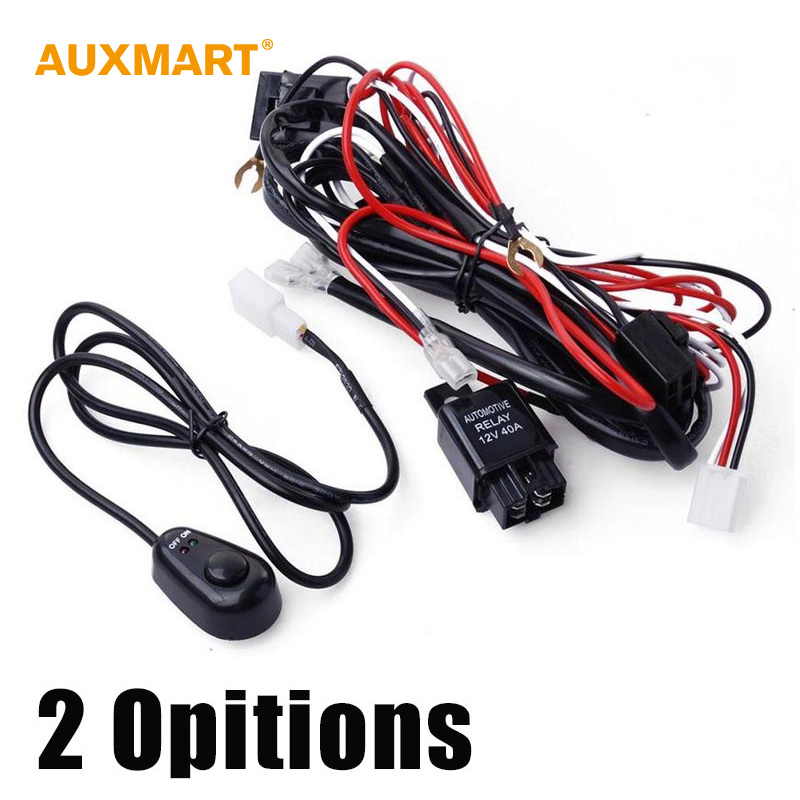 gmc wiring harness reviews online shopping gmc wiring harness auxmart 12v 40a offroad led driving light extention wire relay led work light bar wiring loom harness kit power off 4x4 4wd atv