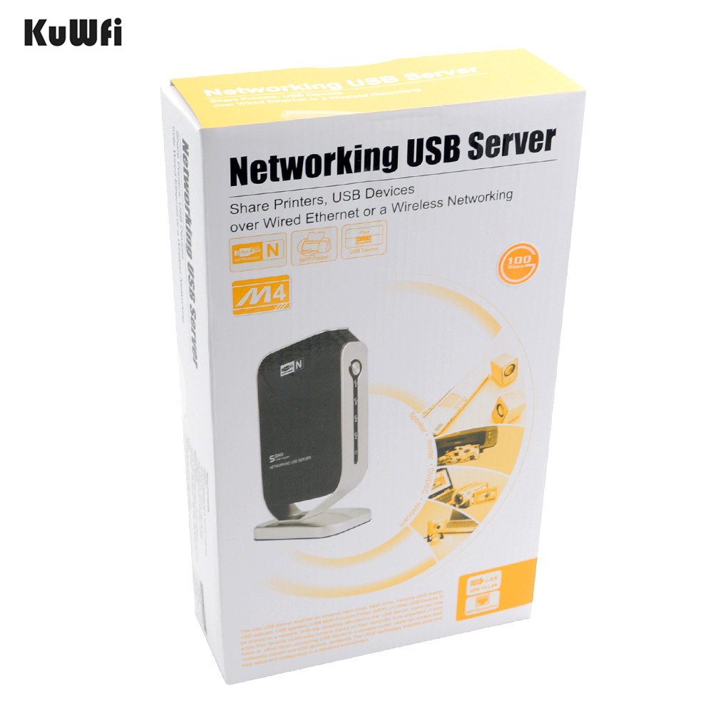 Image 5 - 4 Ports Access Points Network Fax Networking USB Print Server Stable High Speed for Windows 2000 XP Vista 7 PC USB 2.0 Server-in Print Servers from Computer & Office
