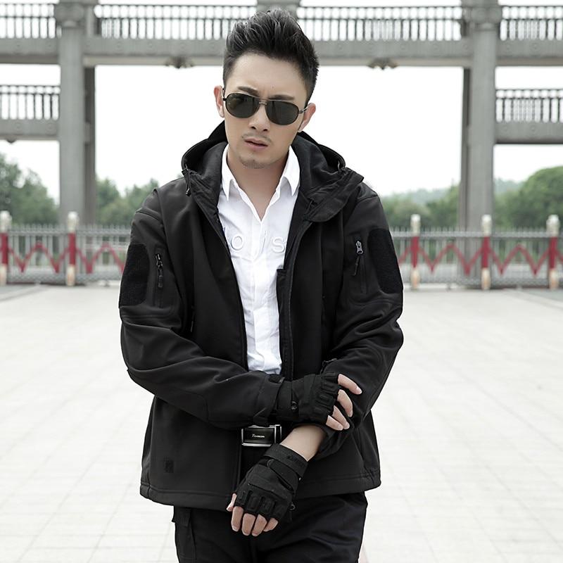 Mens tactique militaire camouflage Softshell vestes décontractées - Vêtements pour hommes - Photo 4